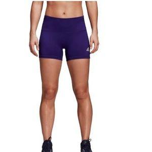 Adidas women's 4in short tight purple size S